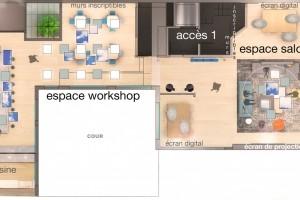 Espace co-meeting Paris Cléry. Espace de travail collaboratif. - présentation 2