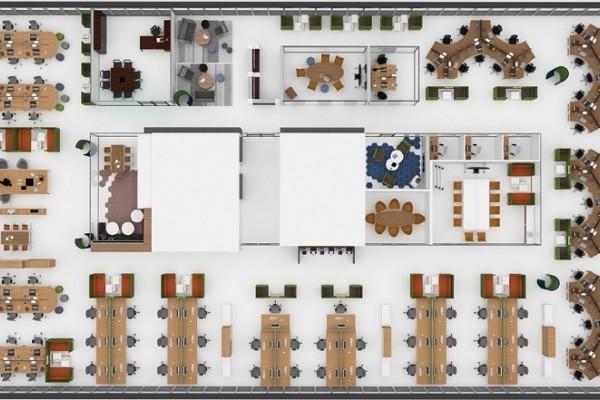 Meuble acoustique, bureaux, Open Space Paris - présentation 3