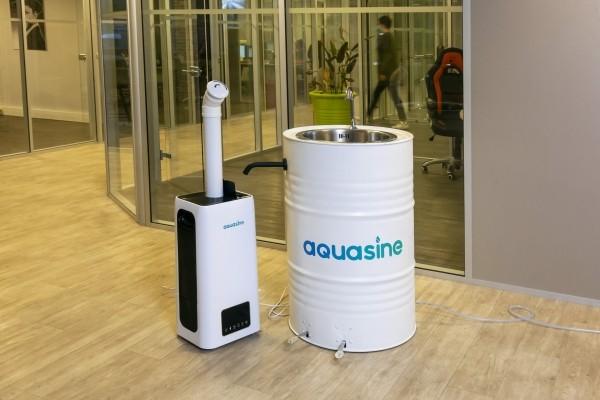 Solution désinfectante neutre. Aquasine : Désinfection par brouillard sec avec dépose de fines particules virucides. - présentation 3